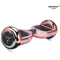 Uboard ECO Board 6.5 Smart Balance Wheel, High Quality Guarantee Electric Hoverboard (1 Year Warranty)-Chrome Rose Gold