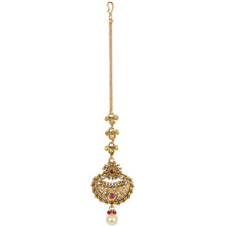 MUCH MORE Stunning Style Party Wear Indian Maang Tikka forehead Traditional Jewellery for Women's