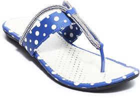 Amour World Women's Blue Flats