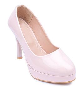 Amour World Women Beige Pump Heel - 134738980