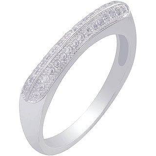 MUCH MORE Exclusive Charm Look Silv er Plated Fashion Ring For Women & Girls Gift Jewelry