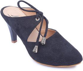 Amour World Women Black Kitten Heel