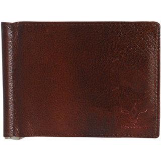 Krosshorn Leather Brown Formal Money Clipper (KW1103)