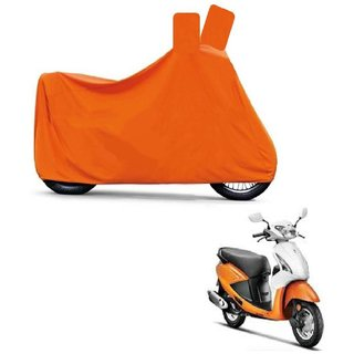 Blays Full Orange Two Wheeler Cover For Pleasure
