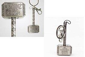 Silver Thor Hammer Metal Key Chain
