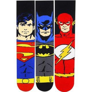 Justice League Mens Special Edition Character Socks - Superman Batman Wonder Woman - Pack of 3