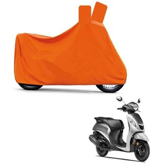 Blays Full Orange Two Wheeler Cover For Fascino
