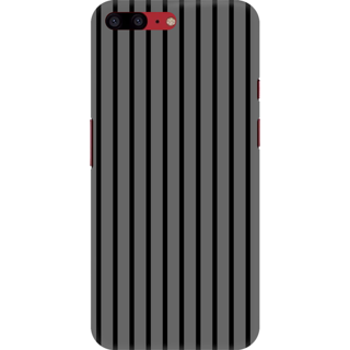 Printed Designer Back Cover For Oneplus 5T - Grey glowing stripes Design