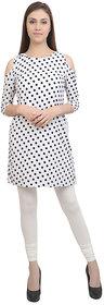 Makeon Fashion Women's White Cotton Legging