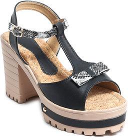 Amour World Women's Black Block Heel