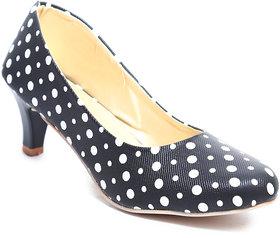 Amour World Women's Black Kitten Heel
