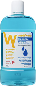 Pearlie White Fluorinze Alcohol Free Mouth Rinse 750ml (Imported)