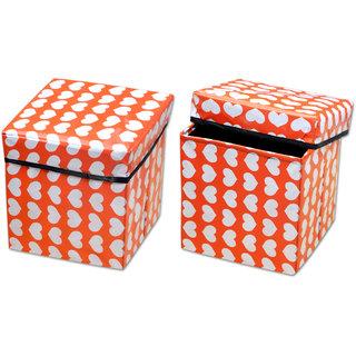 WIMP-YE  Easily Foldable Laundry Basket set of 2 MultiColoured