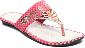 Amour World Women's Pink Flats
