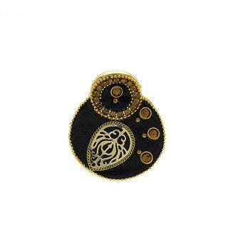 Anuradha Art Black Colour Very Pretty Beautiful Designer Hair Accessories Clutcher/Butterfly Pin For Women/Girls