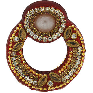 968a12659 Anuradha Art Red Colour Round Shape Simple & Stylish Designer Hair  Accessories Clutcher/Butterfly Pin For Women/Girls