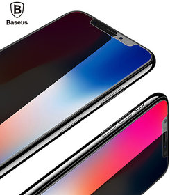 Baseus 3D 0.23mm Screen Protector Tempered Glass For iPhone X Soft Edge Full Cover Toughened Protective Glass Film