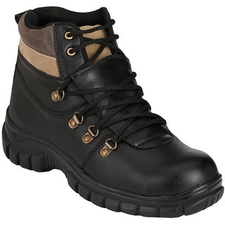 LifeStep Mens Black Safety Shoe With Steel Toe