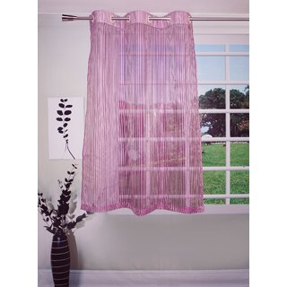 Lushomes Stylish Purple Sheer Curtains With Stripes For Windows