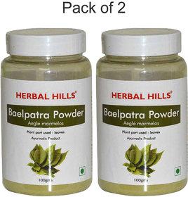 Herbal Hills Baelpatra Powder - 100 gms - Pack of 2