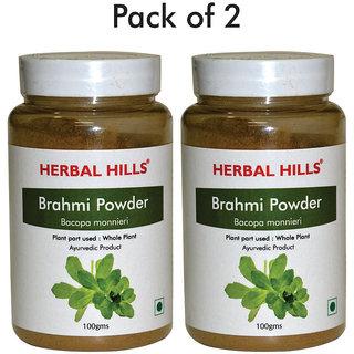 Herbal Hills Brahmi Powder - 100 gms - Pack of 2