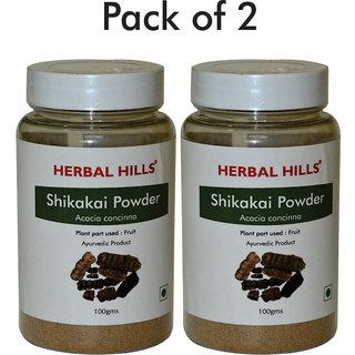 Herbal Hills Shikakai Powder - 100 gms - Pack of 2