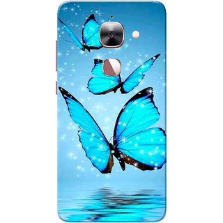LeEco LeTV Le 2 Case, Butterflies Blue Slim Fit Hard Case Cover/Back Cover for LeEco LeTV Le 2