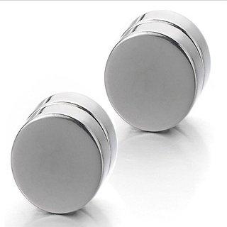316L Stainless Steel Magnetic Non-Pierced Clip on Earrings Unisex Studs for Men & Women