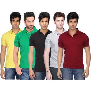KETEX Multi Slim Fit Polo T Shirt Pack of 5