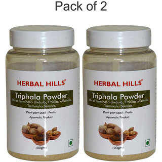 Herbal Hills Triphala Powder - 100 gms - Pack of 2