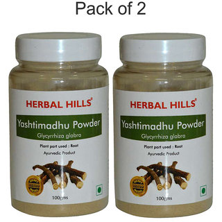 Herbal Hills Yashtimadhu Powder - 100 gms - Pack of 2