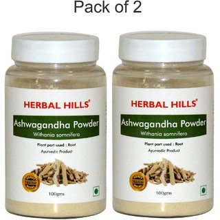 Herbal Hills Ashwagandha Powder - 100 gms - Pack of 2