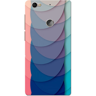 LeEco LeTV Le 1s Case, Half Circles Navy Slim Fit Hard Case Cover/Back  Cover for LeEco LeTV Le 1s