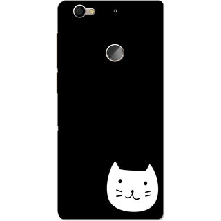 LeEco LeTV Le 1s Case, White Kitty Black Slim Fit Hard Case Cover/Back