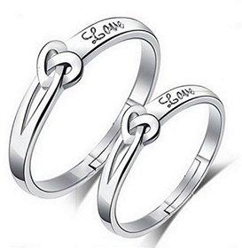 Prince  Princess Sterling Silver Designer Couple rings
