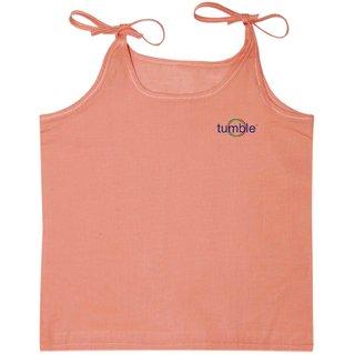 Tumble Peach Shoulder Tie Up Vest - 0 to 12 Months