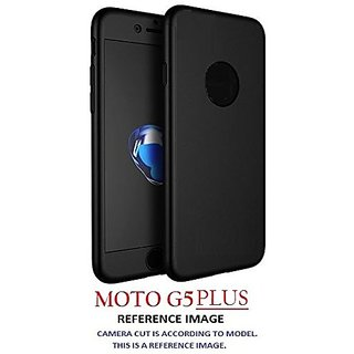 Dream2Cool High Quality Full Body Front  Back 360 Protective Body Case Cover For Motorola Moto G5 Plus G5+ - (Black)
