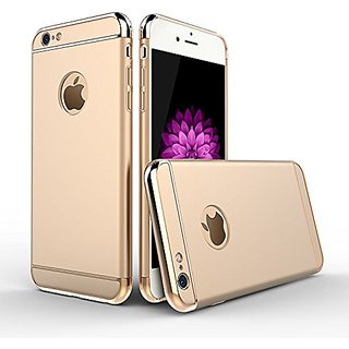 Dream2Cool 360 Degree Full Body Protection Front & Back Case Cover for    iPhone 6 / 6S with Tempered Glass - GOLD