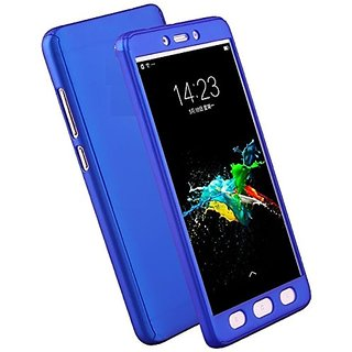 Motorola Moto G5 Plus G5+ 360 Degree Full Body Protection Front  Back Case Cover (iPaky Style) with Tempered Glass by BRAND FUSON for Motorola Moto G5 Plus G5+ - BLUE