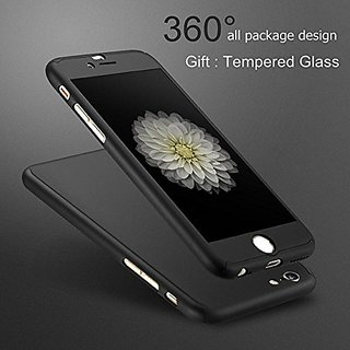 timeless design 55690 ea075 iPhone 5 / 5S 360 Degree Full Body Protection Front Back Case Cover (iPaky  Style) with Tempered Glass by Dream2Cool for iPhone 5 / 5S - Black