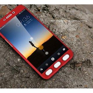 super popular 85d7e ce668 Dream2Cool 360 Degree Full Body Protection Front & Back Case Cover for  SAMSUNG GALAXY J7 PRIME with Tempered Glass - RED