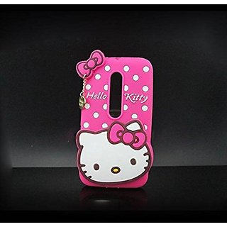 Motorola Moto X Play Back Cover - Dream2Cool Printed Hello Kitty Soft Rubber Silicone Pink Back Cover Case For Motorola Moto X Play Back Cover-Pink