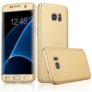new style 202f2 d9f0a Dream2Cool 360 Degree Full Body Protection Front Back Case Cover for  Samsung Galaxy S6 edge SM-G925 with Tempered Glass - GOLD