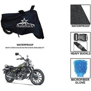 AutoStark Premium Quality Waterproof Scooty Body Cover With Heavy Buckle Lock  Storage Bag For Bajaj Avenger 220 Street