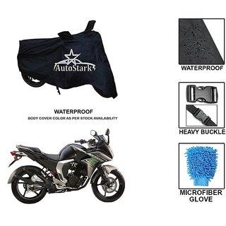 AutoStark Premium Quality Waterproof Scooty Body Cover With Heavy Buckle Lock  Storage Bag For Yamaha Fazer