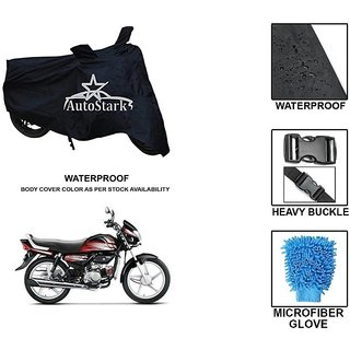 AutoStark Premium Quality Waterproof Scooty Body Cover With Heavy Buckle Lock  Storage Bag For Hero HF Deluxe