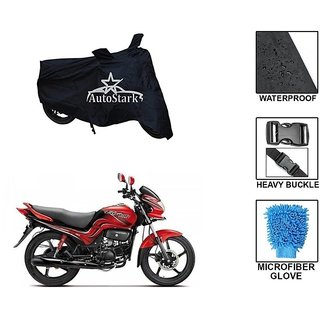 AutoStark Premium Quality Waterproof Scooty Body Cover With Heavy Buckle Lock  Storage Bag For Hero Passion Xpro