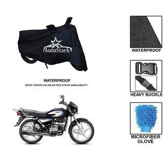 AutoStark Premium Quality Waterproof Scooty Body Cover With Heavy Buckle Lock  Storage Bag For Hero Splendor