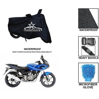AutoStark Premium Quality Waterproof Scooty Body Cover With Heavy Buckle Lock  Storage Bag For Bajaj Pulsar 220 DTS-i