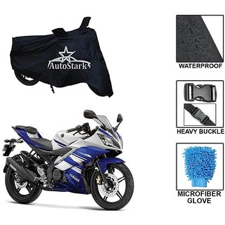 AutoStark Premium Quality Waterproof Scooty Body Cover With Heavy Buckle Lock  Storage Bag For Yamaha R15 s